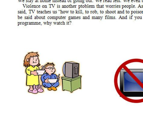 Persuasive essay tv violence and children